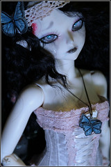 Butterfly (BathorYume) Tags: doll des louise bjd corpse fairyland mnf darkelfsoo minifee bathoryume raouken louiseashebola