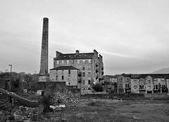 Old Mills . (wayman2011) Tags: bw canals mills northyorkshire skipton fujifilmx10
