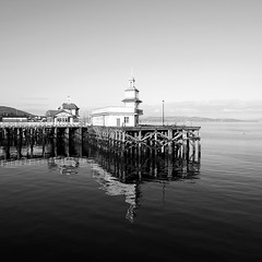Dunoon Pier (Daisy Swain) Tags: wood reflection water ferry scotland pier terminal dunoon sigma1020mm argyllandbute canon60d