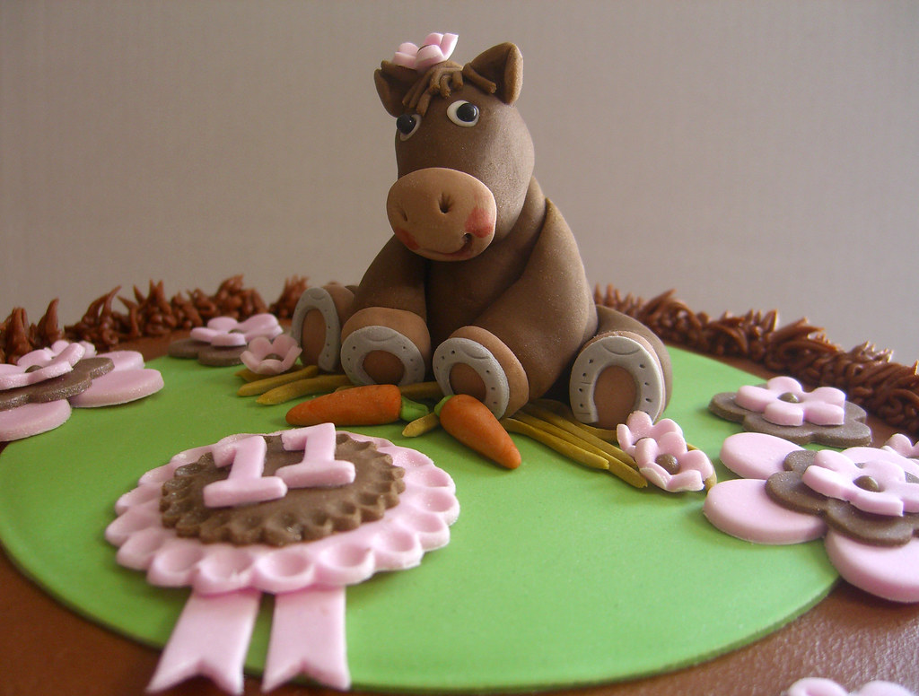 Horse Chocolate Cake Pink