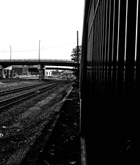 Life on the other side of the tracks (ConqueringBlindness) Tags: city urban train blind traintracks tracks photographers tulsa blindphotographers railrode