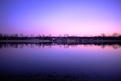 Violet reflection.........ON EXPLORE! (Sunsword & Moonsabre) Tags: park city trees winter light sunset sky lake reflection beach water river island photography ada bay coast cafe twilight nikon colours view dusk hiking serbia shades belgrade nikkor beograd sava balkan ciganlija 2013 1424 abigfave d700 nikonfx