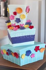 Madhatter wedding cake (zestee) Tags: flowers wedding cake square wonky madhatter topsyturvy topsy turvy