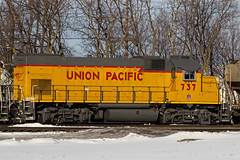 Boone,Iowa 3/2/2013 (Doug Lambert) Tags: railroad up yard train iowa unionpacific boone railfan emd gp151 upy737