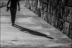 I walk alone (_Hadock_) Tags: desktop camera windows boy shadow bw espaa sun white man black blanco me wall port photoshop puerto pared muelle spain nikon ipod y walk background space negro creative 7 8 commons sombra screen bn full negative adobe hd ocho negativo eight fondo camara euskadi android andando edicion espacio lightroom iphone guipuzcoa saver zumaia ipad encuadre comons d7100 depantalla d5100