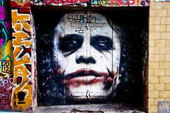 Why so serious? (Leighton Wallis) Tags: graffiti australia melbourne victoria batman joker vic hosierlane heathledger whysoserious
