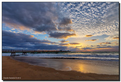 After Sunrise (Fraggle Red) Tags: morning clouds sunrise reflections pier surf waves florida hdr fishingpier lauderdalebythesea anglinsfishingpier 7exp canonef1635mmf28liiusm browardco dphdr commercialblvd commercialblvdpier