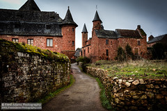 Collonges 1 (Fred-Adams) Tags: red france tower church buildings countryside sandstone village cross rustic lot historic spire lane correze limousin redbrick collonges collongeslarouge plusbeauxvillages reflectyourworld