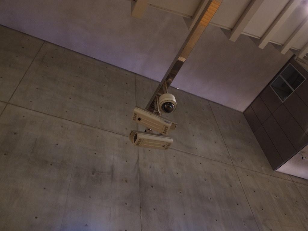 security camera at metro station Blijdorp, Rotterdam