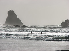 Dancing With the Sea (skipmoore) Tags: ocean beach oregon coast waves pacific surfers shortsands