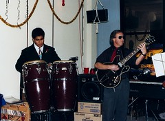 Gerry Falcon and Monte Waite - Electrolytics: #7 (wbaiv) Tags: electrolytics credence systems house band 1991 holiday party gerry monte al norm me daryl kim jim mike flutes vocalskeyboards bass drumscongas greenonions tequila rolliingontheriver jinglebellrock blackmagicwomangipsyqueen kansascity guitars people persons men women work friends coworkers slayin dragon worker job serious professional working music musician performance bayarea sanfranciscobayarea guitar love playing