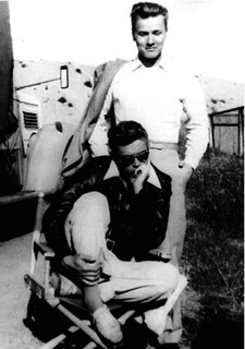 James Dean (seated) and Richard Davalos