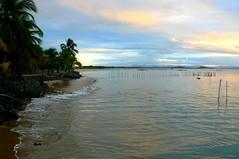 The End of the Day (Carla & Bruno) Tags: ocean sunset sea brazil sun sol beach water gua brasil boat mar sand barco areia prdosol bahia oceano paia barragrande