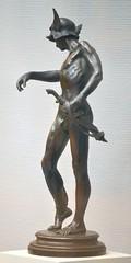 Alfred Gilbert (1854-1934) - Perseus Arming (1882), front left, Tate Britain, Dec 2012 (ketrin1407) Tags: statue bronze naked nude erotic victorian mythology perseus tatebritain statuette sensuous alfredgilbert
