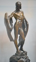 Alfred Gilbert (1854-1934) - Icarus (1882-4), front right 2, Tate Britain, Dec 2012 (ketrin1407) Tags: statue bronze naked nude erotic victorian icarus mythology tatebritain statuette sensuous alfredgilbert