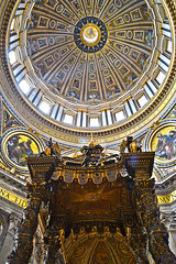 The Vatican Amazing Ceiling - Rome, Italy. (Craig Greenwood) Tags: world old city travel italy holiday pope vatican rome roma art heritage history church archaeology abbey architecture italian ancient europe catholic cross cathedral cardinal god roman vibrant prayer jesus paintings graves historic clear holy crisp empire craig stunning romantic historical priest colourful marble oldtown tombs hdr romanempire relics emperor romans cleopatra stpeter lazio vaticancity archbishop crucifiction saintpeterssquare saintpeter citybreaks romani apostle icapture historicalcity historicalplace historictown historicaltown finegold houseofgod housesofworship saintpeterbasilica mywinner emperorhadrian flickaward flickrtravelaward nikond3100