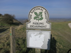 Fulking escarpment sign. (ttwff) Tags: travel camping wild holiday signs sign way downs walking funny walks hiking walk south hike backpacking hikes escarpment southdownsway fulking wildcamping fulkingescarpment thesouthdownsway fulkingescarpmentsign