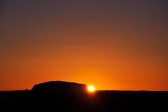 Uluru sunrise (marin.tomic) Tags: morning travel orange sun silhouette rock sunrise early nikon desert australia unesco heat outback uluru australien redcenter downunder northernterritory ayersrock d90 ulurukatatjutanationalpark