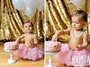First birthday cake smash (kristaguenin) Tags: firstbirthday cakesmash pinktutu babyinpearls