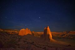 "Cathedral Valley via moonlight (IronRodArt - Royce Bair (""Star Shooter"")) Tags: nightphotography nightscape moonlight nightscapes capitolreefnationalpark starrynight cathedralvalley starrynightsky"
