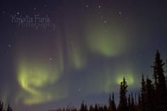 Not the Greatest Shot (Krista Funk's Photos) Tags: sky night stars northernlights auroraborealis northklondikehighway