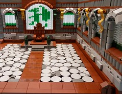 Draconian Throne Room (ZephyrChaos) Tags: castle glass war dragon lego battle stained gore vs mage myst moc lob draconia khrinn