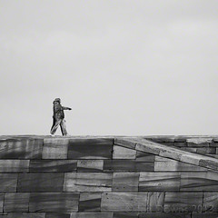 look, a ramp! (Jon Downs) Tags: uk sky people bw white black art stone clouds digital canon downs creativity photography eos grey pier photo jon ramp flickr artist photographer image jetty united gray creative picture kingdom pic photograph whitby 7d jondowns