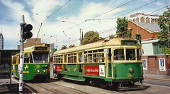 Melbourne University - Swanston Street (andrewsurgenor) Tags: city urban electric transport australia melbourne victoria transit publictransport trams trolleys streetscenes streetcars citytransport