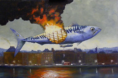 080405 (kevinmcsherryartist) Tags: fish dirigible balloon disaster crash technology fly flight river fire catastrophe explosion dublin irl