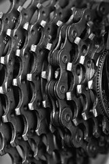 Macro Summer Olympic Sports (NedraI) Tags: bw blackwhite chain bicycle bike gears macro silverefexpro2
