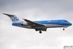 KLM --- Fokker 70 --- PH-KZP (Drinu C) Tags: adrianciliaphotography sony dsc hx100v lhr egll plane aircraft aviation klm fokker 70 phkzp