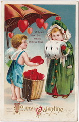 """ELLEN CLAPSADDLE CUPID ANGELS PASSION PRETTT VALENTINE GIRL A heart like this meas endless BLISS - LOVE IS IN THE AIR International Art Card Series No 1232 (UpNorth Memories - Donald (Don) Harrison) Tags: vintage antique postcard rppc """"don harrison"""" """"upnorth memories"""" upnorth memories upnorthmemories michigan history heritage travel tourism """"michigan roadside restaurants cafes motels hotels """"tourist stops"""" """"travel trailer parks"""" campgrounds cottages cabins """"roadside entertainment"""" """"natural wonders"""" attractions usa puremichigan"""