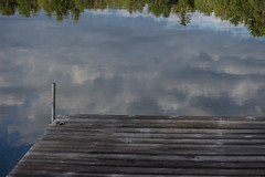 Morning Reflections (isabel.monita) Tags: ontario frenchriver summer calmness nature reflections river dock water clouds