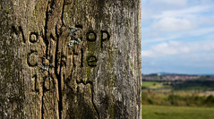 In the distance (The Crewe Chronicler) Tags: bokeh sign signpost apedalecountrypark apedale canon canon7dmarkii staffordshire staffs
