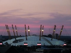 Red Sky at The O2 Dome (Waterford_Man) Tags: red redsky dome o2 greenwich london sky dusk