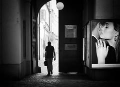 he knew he had to go (Erwin Vindl) Tags: heknewhehadtogo streetphotography streettogs candid blackandwhite bw monochrome vienna erwinvindl olympusomd em10markii