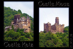 Cat & Mouse Castles (Koko Nut, it's all about the frame) Tags: cat katz mouse maus castle burg collage frame duo germany rhein rhine rhineriver rivercruise cruise mountain koko kokonut wonder