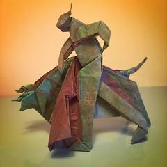 Llopio's moment of truth - Neal Elias (Stefano Borroni (Stia)) Tags: origami paperart origamilove carta paper origamipaper foldingpaper papiroflexia piegarelacarta origamiart arte toro torero bull saraadams