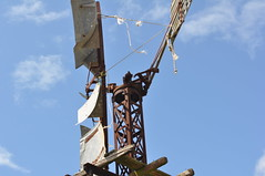 8 foot Intercolonial Boring Company Simplex windmill, direct acting open crank (sarracenia.flava) Tags: intercolonial boring company ibc simplex direct action windmill open crank darling downs queensland australia