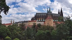 Prague Castle from the Royal Gardens (beyondhue) Tags: prague castle prazsky hrad praha jelenni prikop daliborka dalibor tower architecture summer cloudy beyondhue czech republic travel panorama st vitus cathedral chram svateho vita
