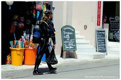 Scuba Diver (Kevrekidis) Tags: greece naxos streetphotography naxosisland aegean  canoneos600d diver scuba diving scubadiving scubadiver divingsuit street