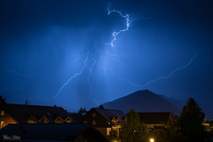 Thunderstorm (Frdric Pactat) Tags: nikon d750 afs 2470mm f28g ed nikkor fx 2470 24 70 mm f28 28 night shot landscape nocturne d 750 thunder orage thunderstorm foudre blue shadows village storm dark sky annecy mont veyrier