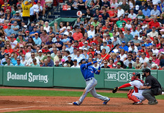 Jose Bautista hits one out of Fenway Park (acase1968) Tags: boston red sox home run fenway park toronto blue jays swing jose bautista nikon d7000 nikkor 70200mm f28g mlb major league baseball batter poland spring
