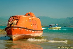 Rescue Boat (mushtaqjams) Tags: khanpur dam lake boat rescue