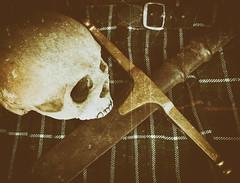 983 of 1096 (Yr 3) - A brave man was he (Hi, I'm Tim Large) Tags: bookcover sword kilt tartan scots death skull braveheart 365 366 dark story tale scottish scotland effects