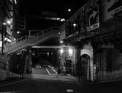 way back 2/2 (MEG/TYO) Tags: tokyo japan ikebukuro olympus xz10 blackandwhite bw night light  toshima