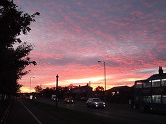 Sunset over West Derby, Liverpool (Neil 02) Tags: redsky clouds liverpool merseyside dusk evening