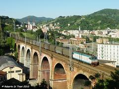 E652 157 Genova Trasta (Di Trani Roberto) Tags: e652 157 con un merci trasporto coils sulla succursale dei giovi ormai genova trasta trenitalia cargo fs 652