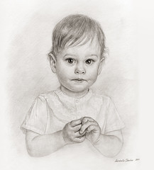Portrait of child (Annabelle Danchee) Tags: face people creative art beautiful danchee annabelle portrait graphic graphics drawing draw