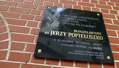 Kazimierz-Dolny - St John the Baptist, memorial Jerzy Popieluszko